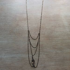 Bronze stone necklace